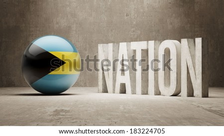 Bahamas High Resolution Nation Concept