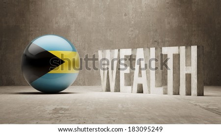 Bahamas High Resolution Wealth Concept