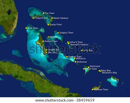 Bahamas Map Stock Illustration Shutterstock - Map of the bahamas