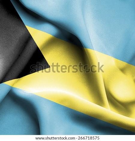 Bahamas waving flag - stock photo