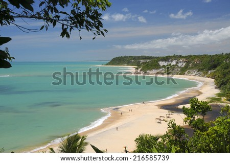 Bahia Beach, Brazil - stock photo