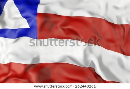 Bahia state corrugated flag 3d illustration - stock photo