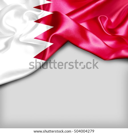 Bahrain Country Flag on white background