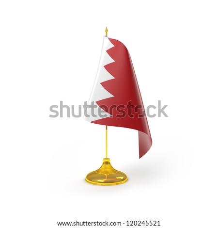 Bahrain Flag Detail Render - stock photo