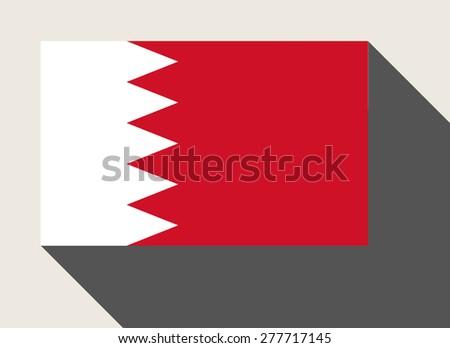 Bahrain flag in flat web design style. - stock photo