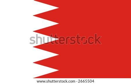 Bahrain national flag - stock photo