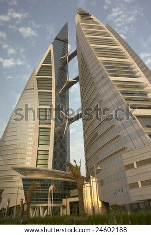 Bahrain world trade center - stock photo