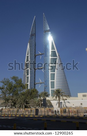 Bahrain world trade centre, middle east