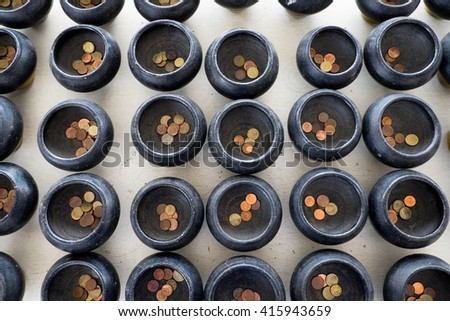 Baht coins - stock photo