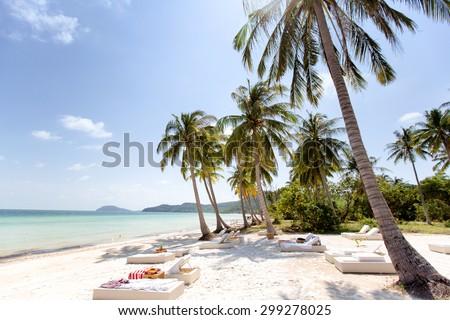 Bai Sao Beach, Phu Quoc Island, Vietnam. - stock photo