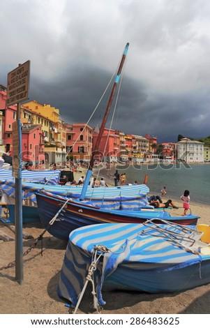 Baia del Silenzio - stock photo