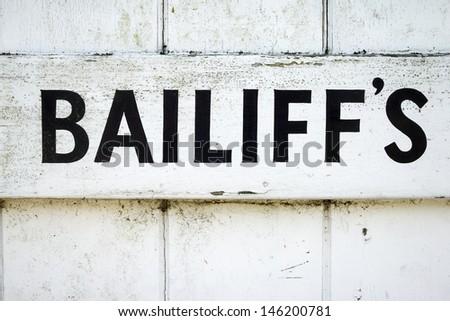 Bailiff's - stock photo
