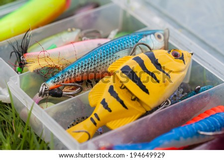 bait for fishing, lure for fishing - stock photo