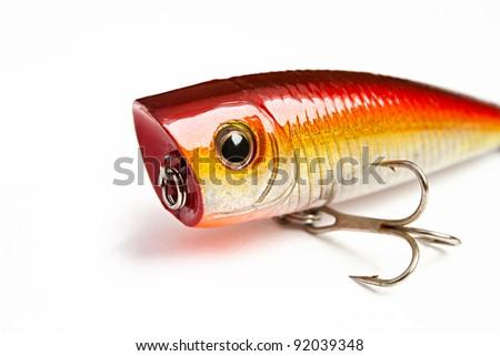 bait for fishing - wobbler popper - stock photo