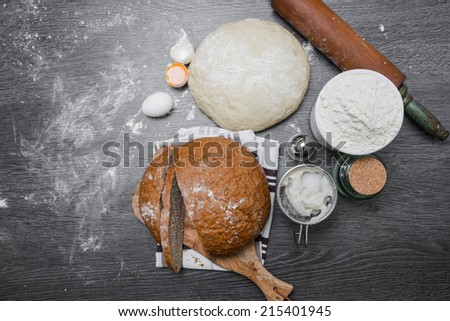 Bake bread itself - stock photo