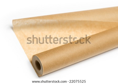 bake paper  isolated on the white background