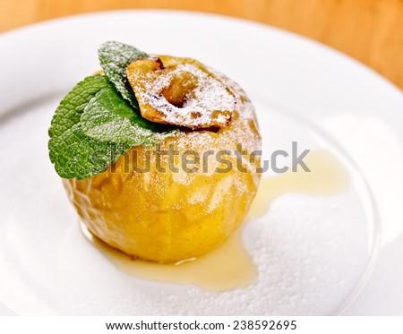 Baked apple - stock photo