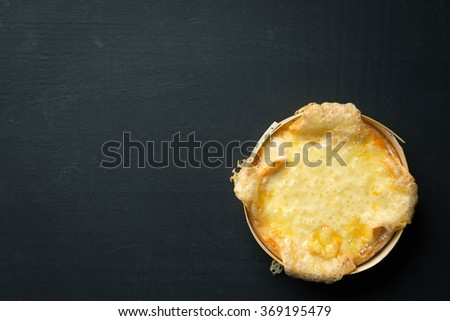 Baked Camembert Cheese - stock photo