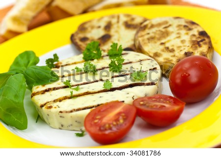 baked cheese with boiled potato
