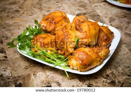 Baked chicken - stock photo