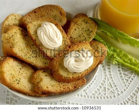 baked crusty toast - stock photo