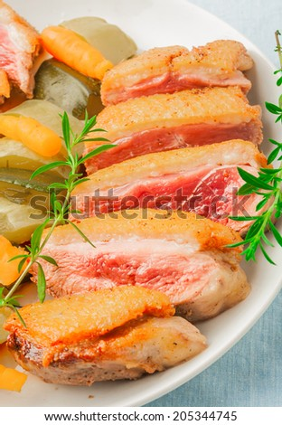 baked duck breast
