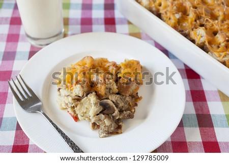 Baked Egg Strada Breakfast Casserole - stock photo