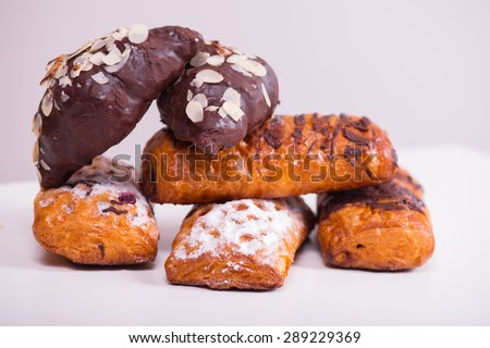 Baked goods for food on white     - stock photo