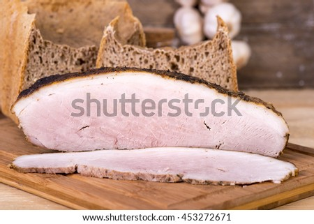 baked ham spices - stock photo