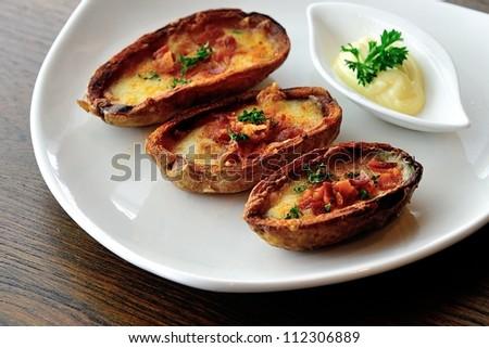 Baked jacket potato - stock photo
