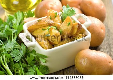 Baked potatoes - stock photo
