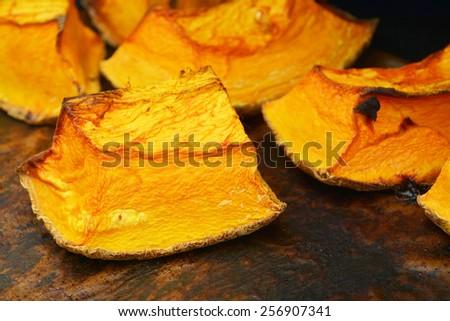 baked pumpkin   - stock photo