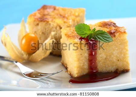 White Chocolate Rice Pudding With Dried Cherry Sauce ...