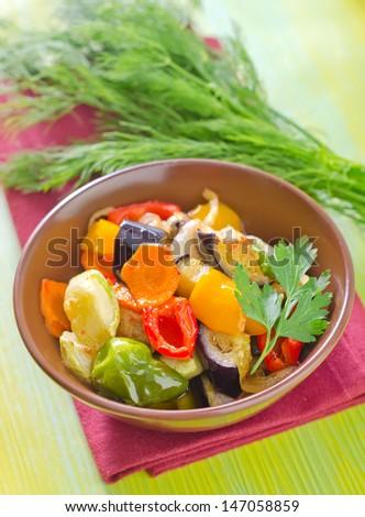 baked vegetables - stock photo