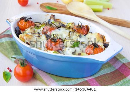 Tower Zucchini, Tomato,  Mozzarella