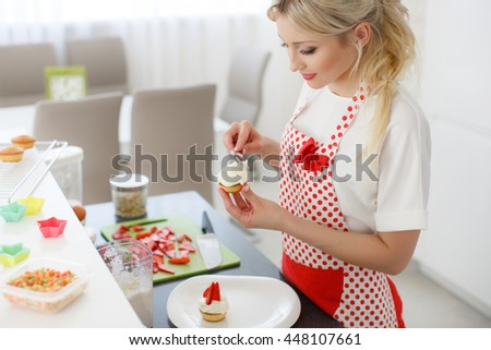 Woman Decorating Cupcakes no sugar woman stock photos, royalty-free images & vectors