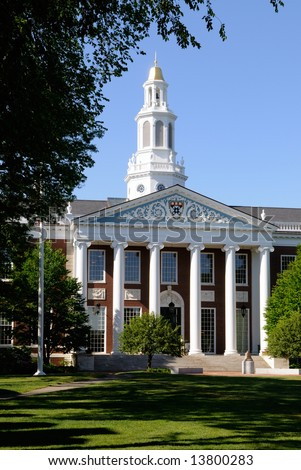 Baker Library, Harvard Business School - stock photo