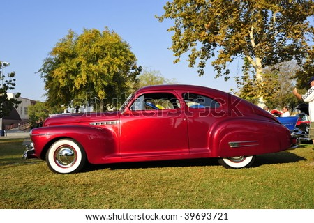"BAKERSFIELD, CA - OCT 24: This custom 1941 Buick was on display at the ""Rolling Thru the Ages Car Show"" on October 24, 2009, in Bakersfield, California - stock photo"