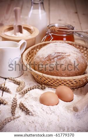 Baking Bread Stock Photo 61777339 Shutterstock