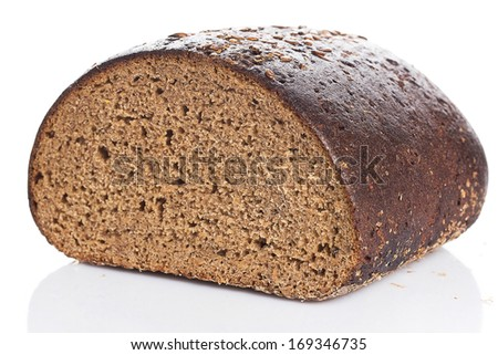 Bakery. Delicious bread on white background - stock photo
