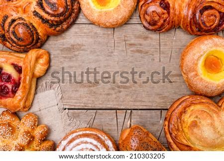 Bakery foodstuffs  - stock photo