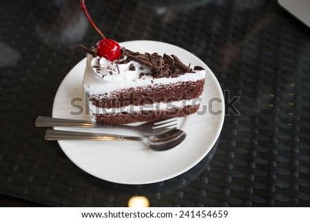 Bakery Ice Chocolate , Sweet Food - stock photo