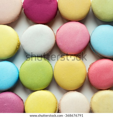 Baking colorful delicious macaroon. - stock photo