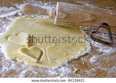 baking cookies - stock photo