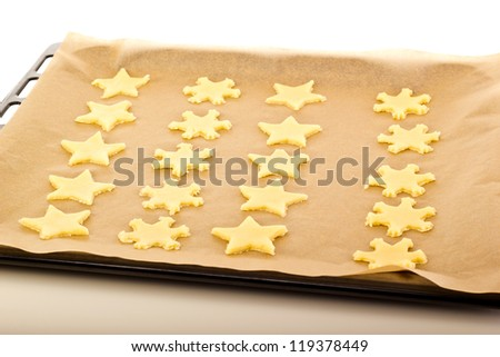 Baking cookies for christmas - stock photo