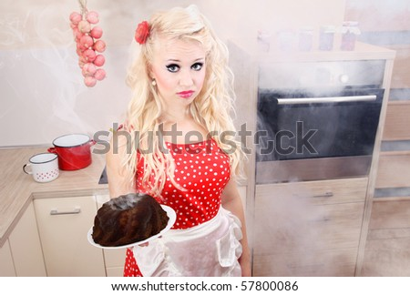 Baking disaster, similar available in my portfolio - stock photo