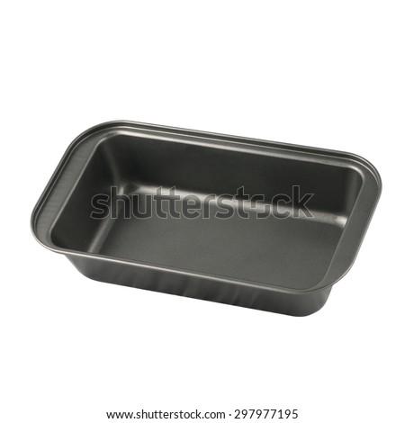 baking dish isolated on white background  - stock photo