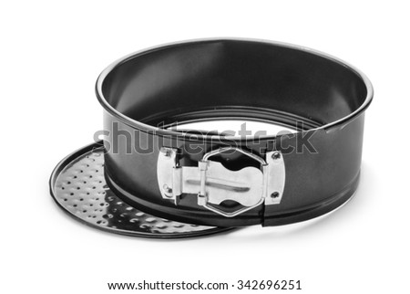 Baking dish with removable bumpers isolated on white background - stock photo