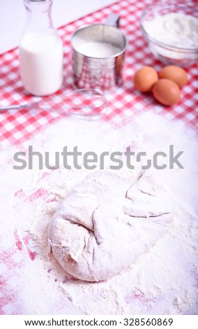 Baking donuts in kichen  - stock photo