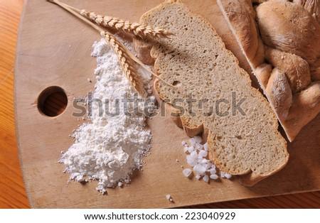 Baking goods, bread  - stock photo